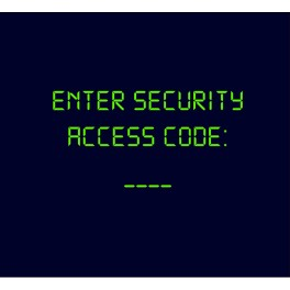 Enter Security Access Code Azul marino