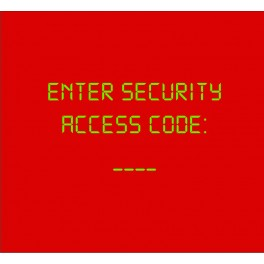 Enter Security Access Code Rojo