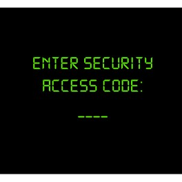 Enter Security Access Code Negro
